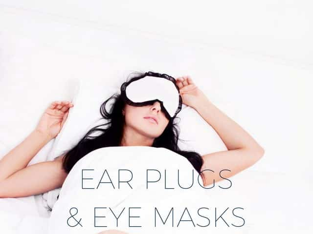 earplugs and eye masks