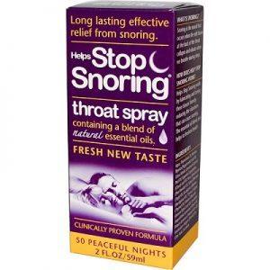 Helps stop snoring spray