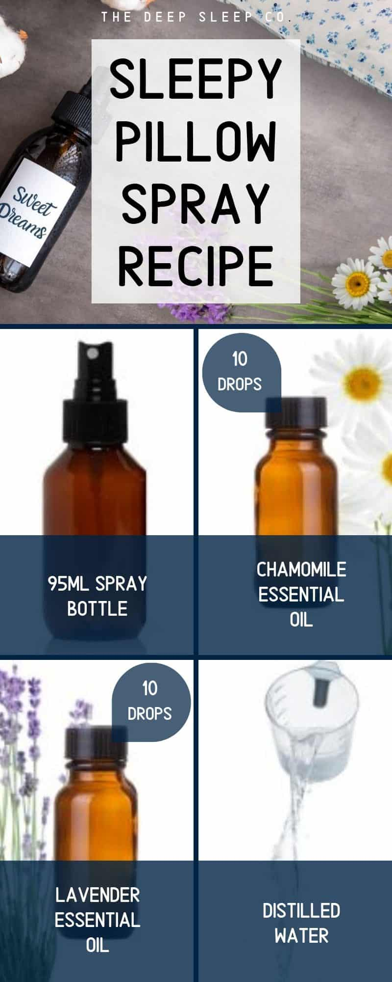Sleepy pillow spray recipe