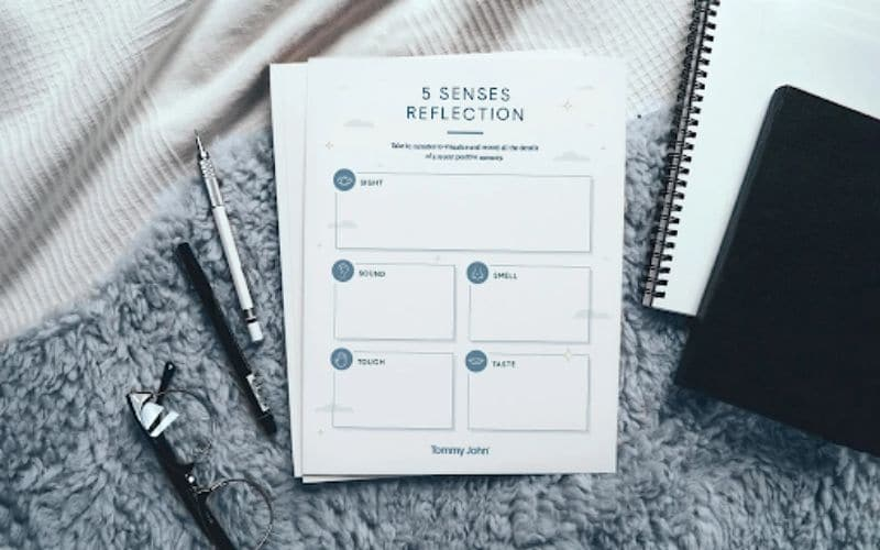 Five Senses Reflection for sleep