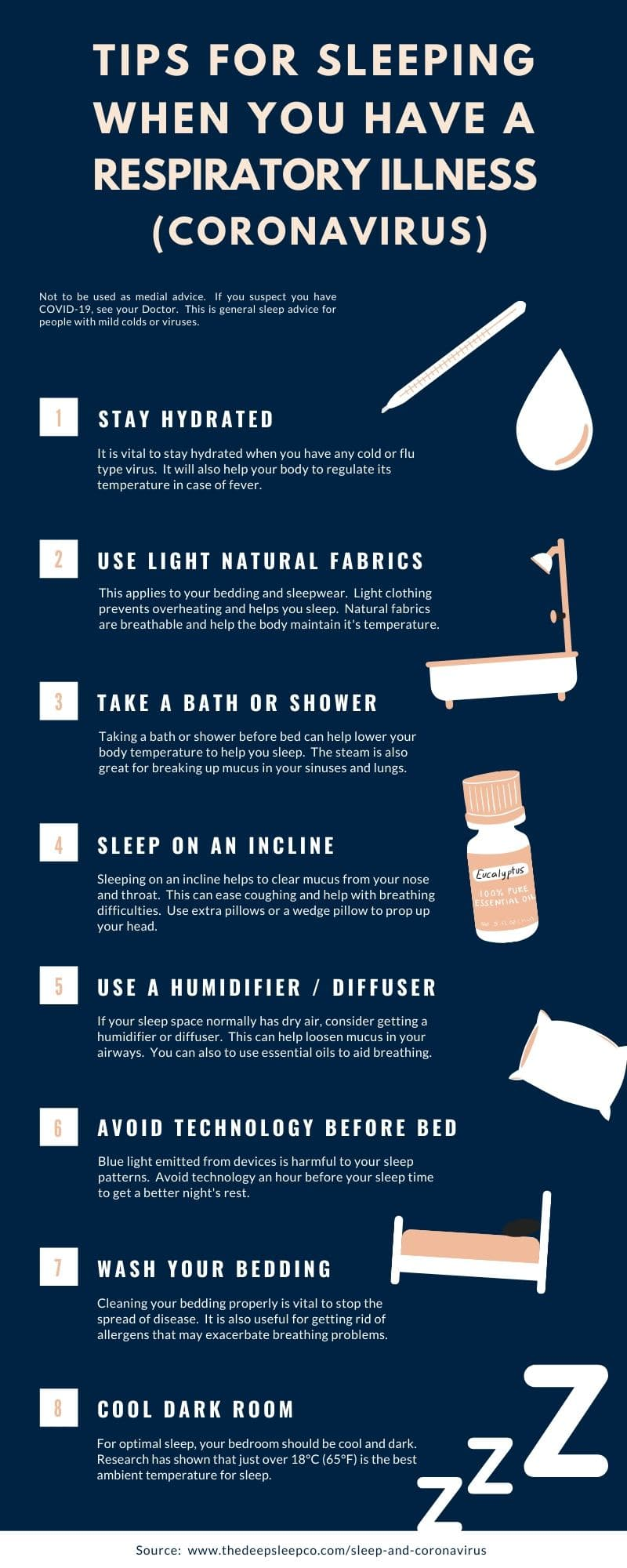 Tips for getting sleep when you have a respiratory illness
