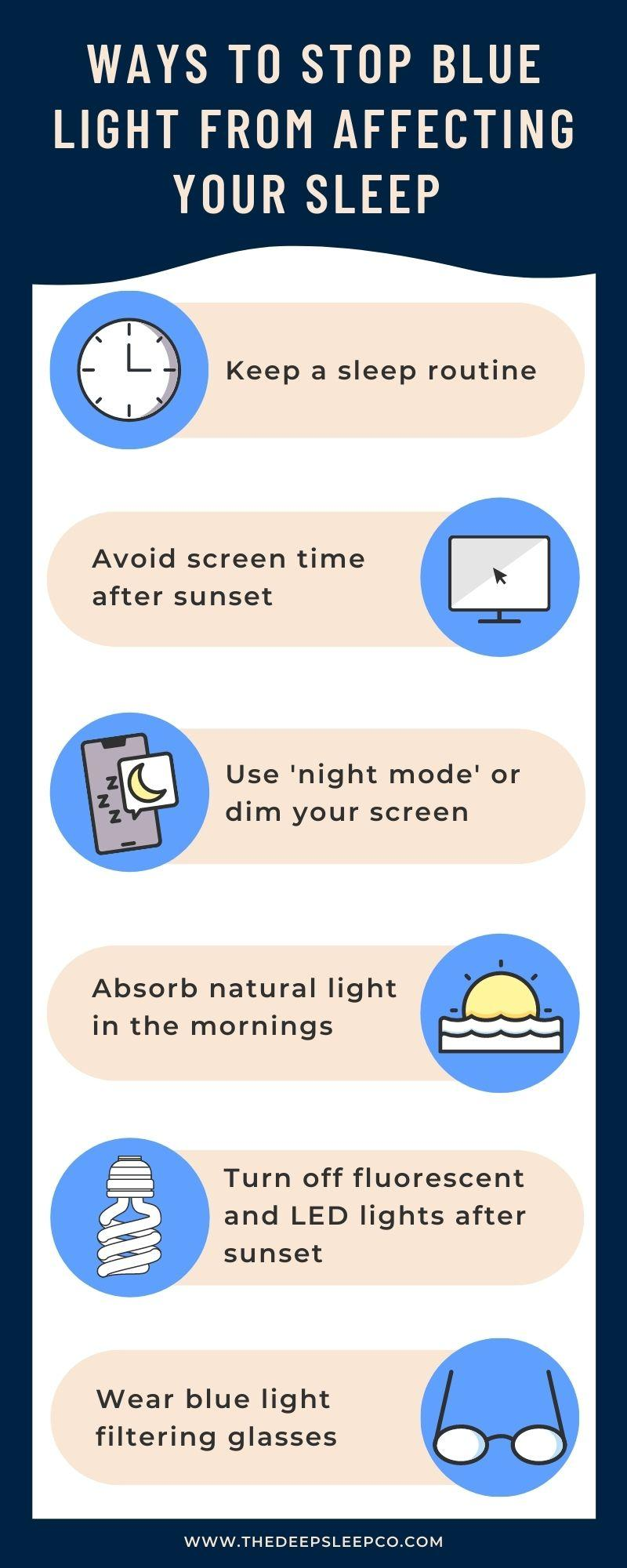 Ways to stop blue light from affecting your sleep